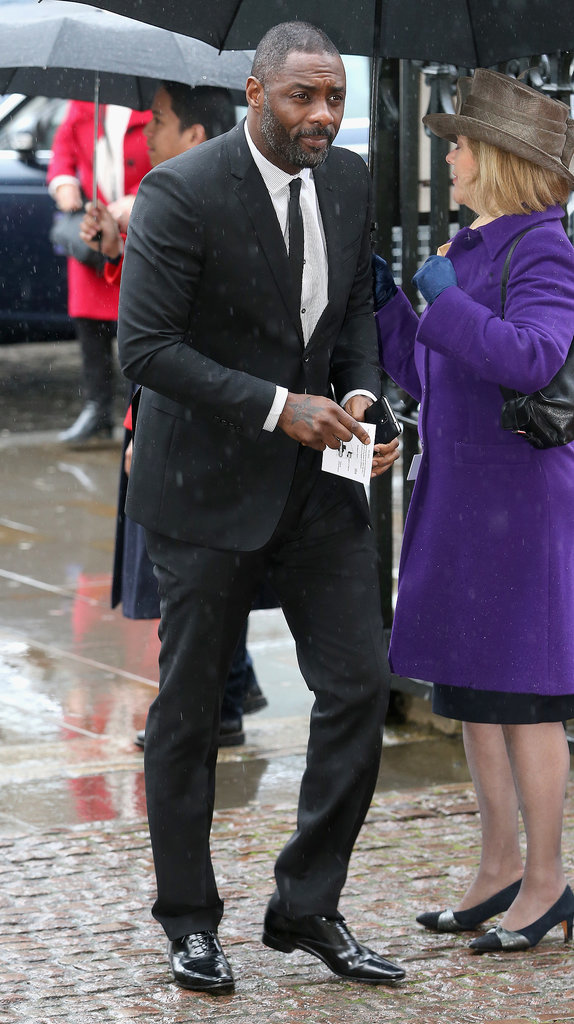 Actor Idris Elba arrived for the service at Westminster Abbey.