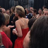 We couldn't get enough of Jennifer Lawrence's back-draped necklace.