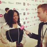 Entertainment reporter Matthew Rodrigues logged a little quality time with Whoopi Goldberg.
