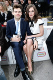 Keira and James Righton cuddled in the front row.