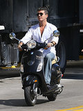 On Monday, Simon Cowell took his Vespa out for a ride around Miami.