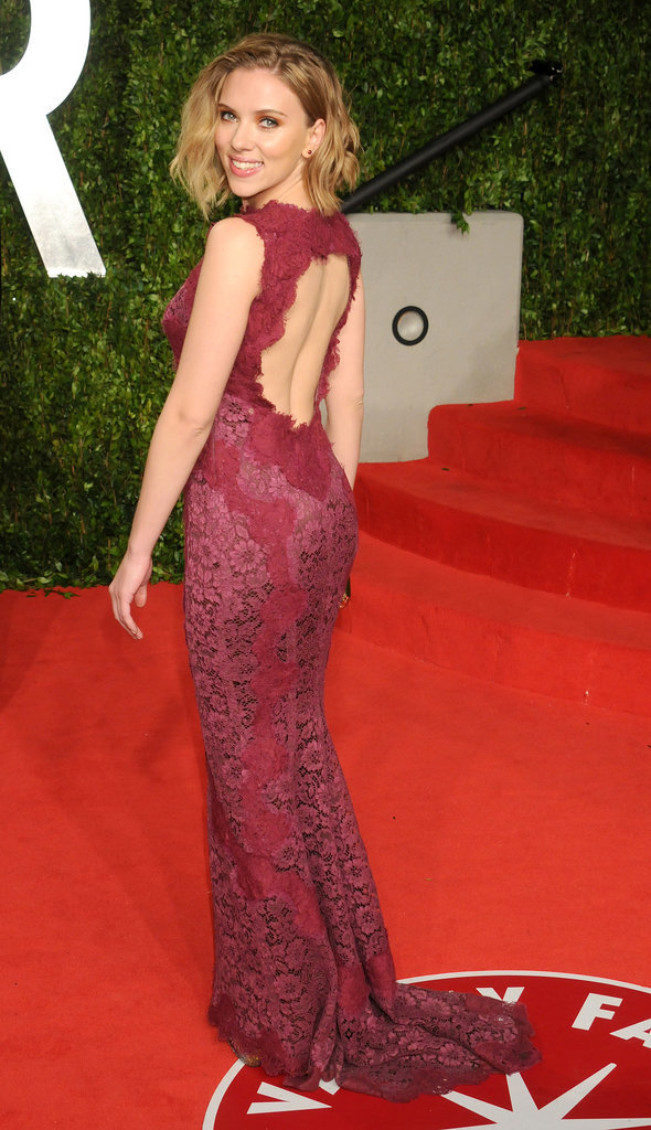 Scarlett Johansson at the Vanity Fair Oscar Party, 2011