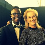 He Felt #TrulyBlessed to Meet Meryl Streep