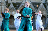 Young Choristers of Salisbury Cathedral Choir in England flipped pancakes to mark Shrove Tuesday.