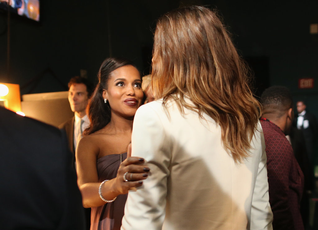 Jared had the attention of Kerry Washington while backstage at the Oscars.