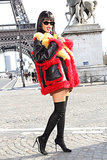 Rihanna struck a pose on Wednesday in Paris.