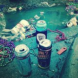 Just beads and beer cans everywhere.