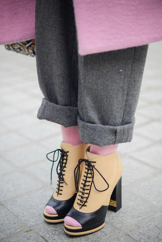 The sweetest way to sport your socks has got to be in pink.