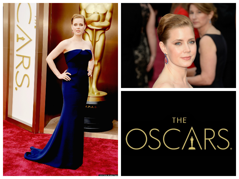Amy Adams Oscars Red Carpet Academy Award Nominee American Hustle Supporting Actress