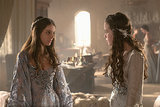 Kenna (Caitlin Stasey) and Lola (Anna Popplewell), Mary's ladies-in-waiting, have a chat.