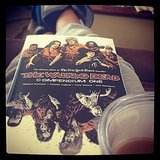 "Ashlieghtaylor shares, ""My snow day: Lions slippers, Walking Dead comics and chai lattes."""
