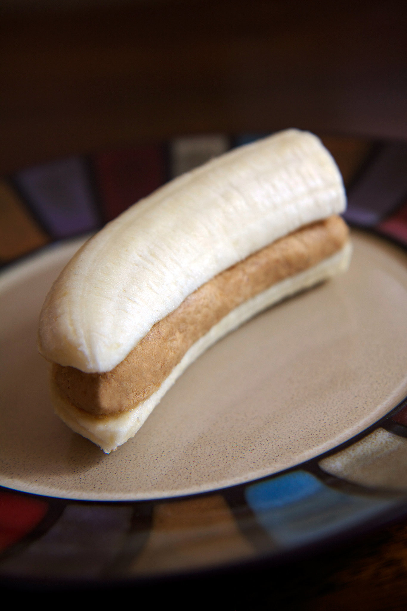 High protein banana peanut butter snack popsugar fitness for 1 tablespoon of butter