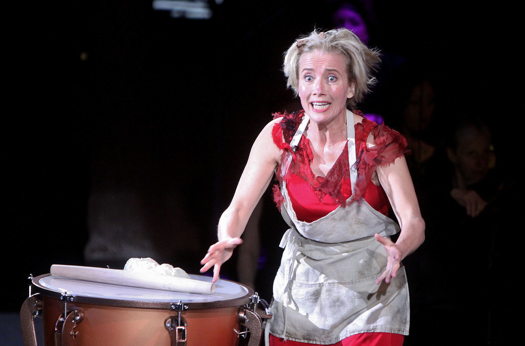 Emma Thompson acted in the opening night of the New York Philharmonic's Sweeney Todd in the Big Apple on Wednesday.