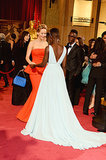 And Jennifer Admired Lupita's Gorgeous Dress