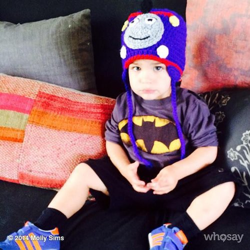 Brooks Stuber wore all his favorite things —Thomas the Tank Engine and Batman —together. Source: Instagram user mollybsims