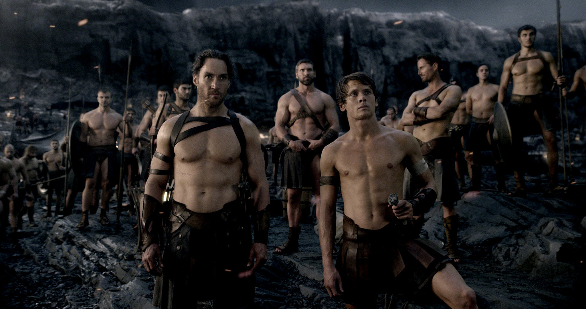Callan Mulvey and Jack O'Connell, 300: Rise of an Empire