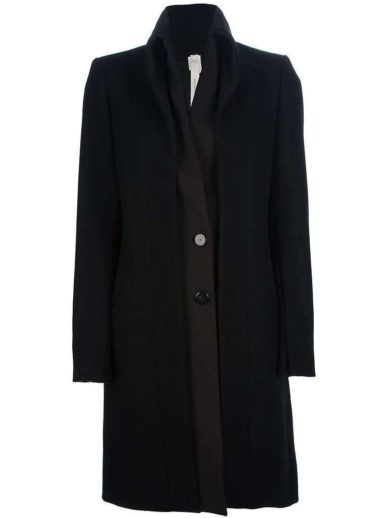 Anne Valerie Hash black shawl collar coat ($387, originally $968)