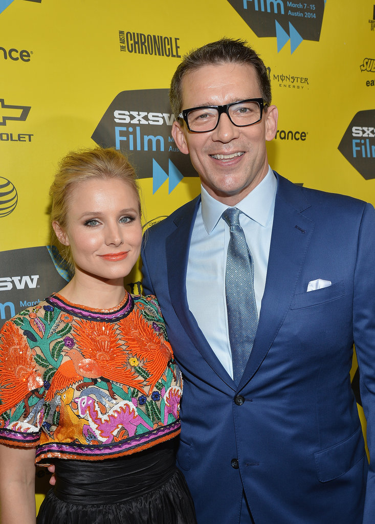 Kristen Bell buddied up with Veronica Mars director and cowriter Rob Thomas on Saturday.