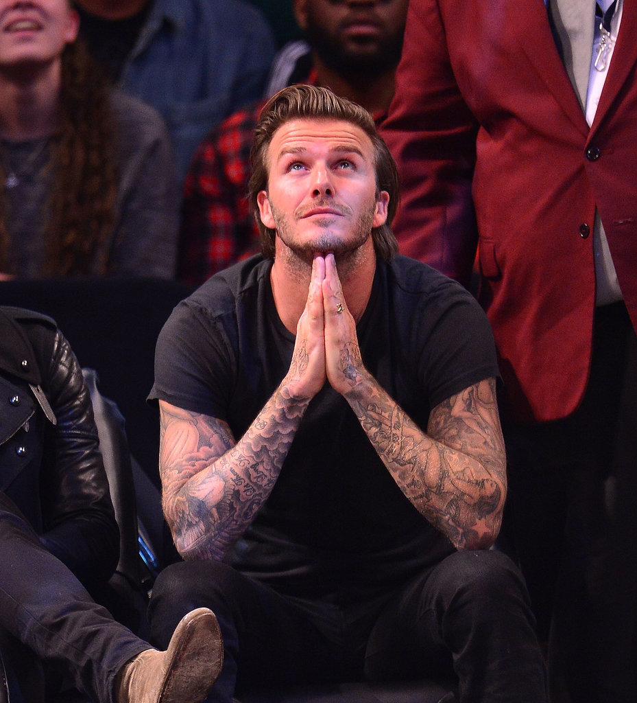 David Beckham was wishing and hoping for the game to go his way when the Miami Heat and Brooklyn Nets when head to head in November 2013.