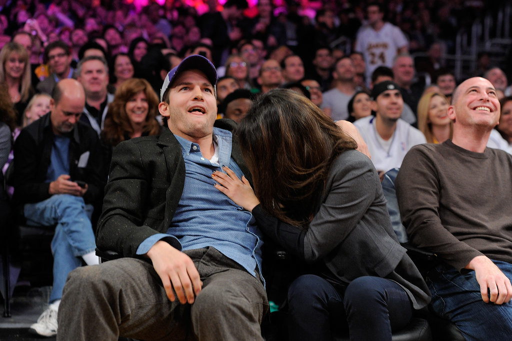 Mila Kunis just couldn't bare to watch part of the Utah Jazz and Los Angeles Lakers game in January.