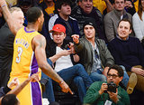 In December 2013, Zach Efron got involved when his LA Lakers played the Minnesota Timberwolves.