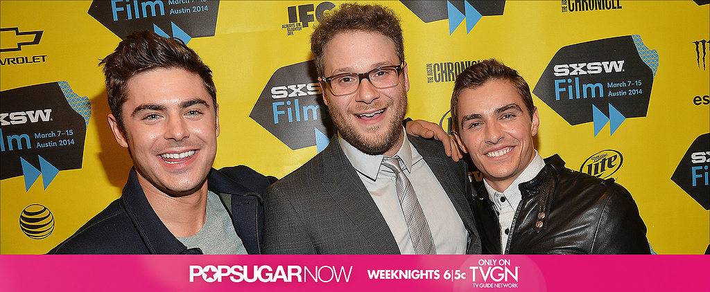 Tonight on TVGN: Zac Efron and Seth Rogen on Their Raunchy New Comedy