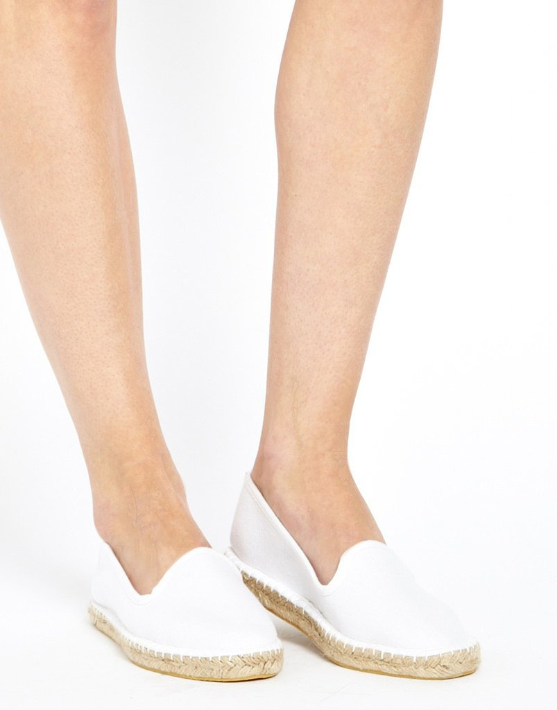 ASOS Junction White Flat Espadrilles ($15)