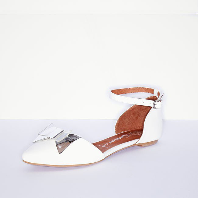 Cold Feet by Jeffrey Campbell Bow Ankle-Strap Flats ($135)