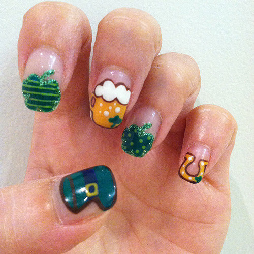 St. Patrick's Day Nail Art DIY Manicure