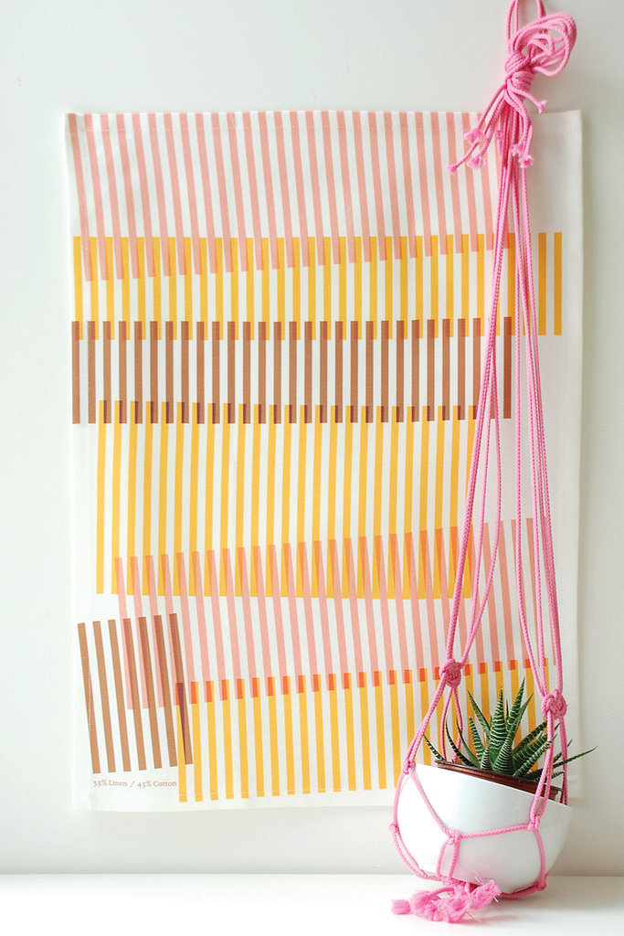 Light and bright, this tea towel ($40 for two) will make a vibrant addition to your kitchen.