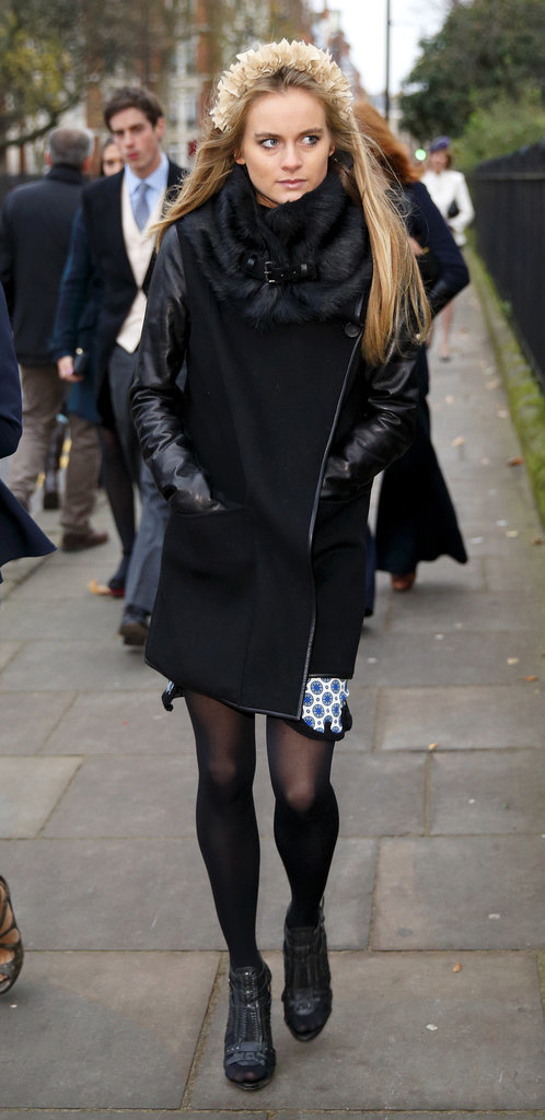 Cressida Bonas at a December 2013 Wedding
