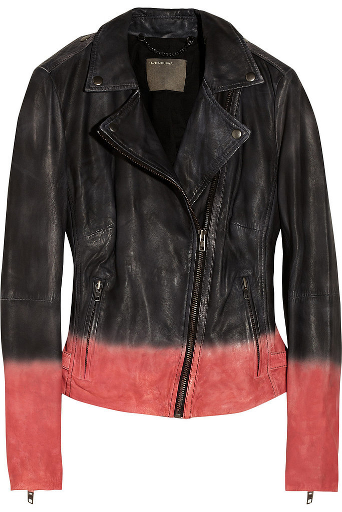 Muubaa Black and Pink Dip-Dye Leather Jacket ($106, originally $530)
