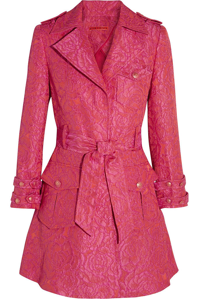 Alice + Olivia Klein Pink Jacquard Trench Coat ($159, originally $797)