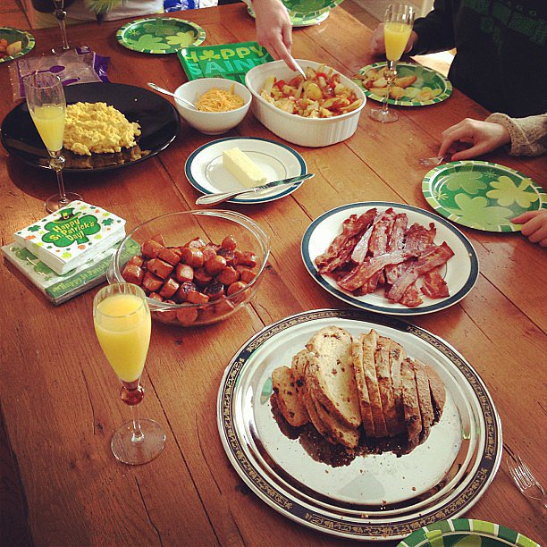 St. Paddy's Day starts with a big Irish feast.