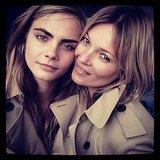 Cara Delevingne und Kate Moss modeln für Burberry