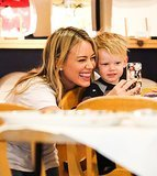Hilary Duff & Luca Smile For A Selfie