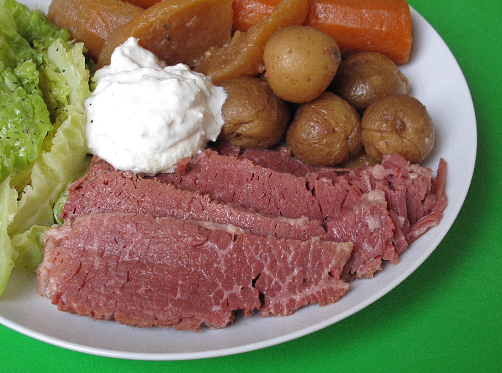 ... corned beef and cabbage dish is one that you'll fall in love with