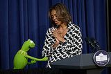 "And Michelle was like, ""Oh, Kermit. You shouldn't have."""