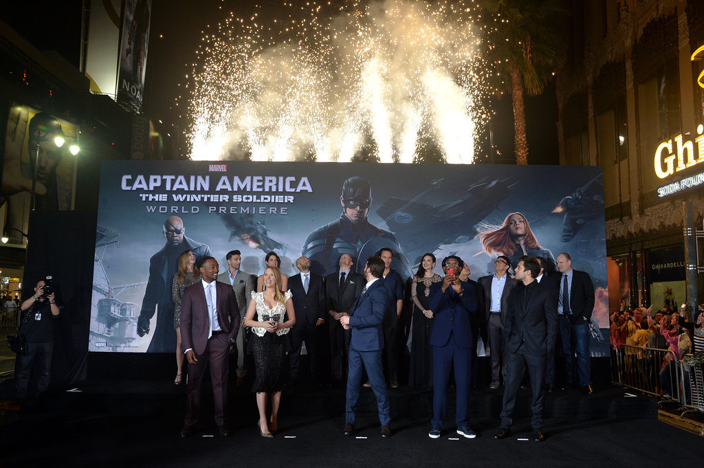 The cast celebrated their premiere with fireworks!