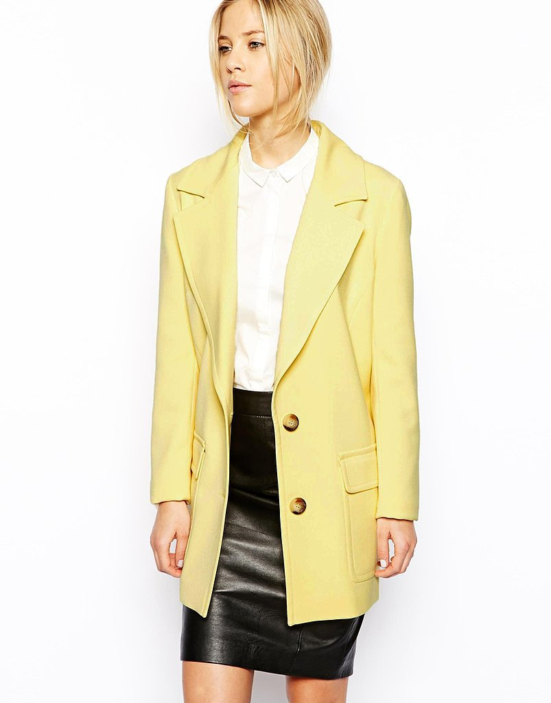 ASOS yellow two-button coat ($141)