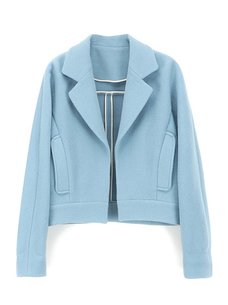 Gilda light-blue dolman-sleeved jacket ($369)