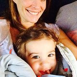 Brooks Stuber snuggled with his mom, Molly Sims, one morning. Source: Instagram user mollybsims