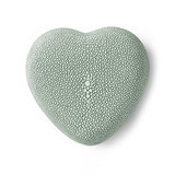 A shagreen heart box ($130) will make the final touch to your styled coffee table.