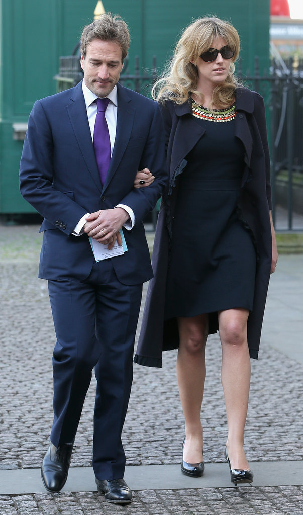 Marina Fogle put her hand in husband Ben Fogle's arm.