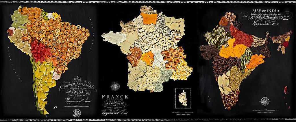 Gaze at Gorgeous Food Maps