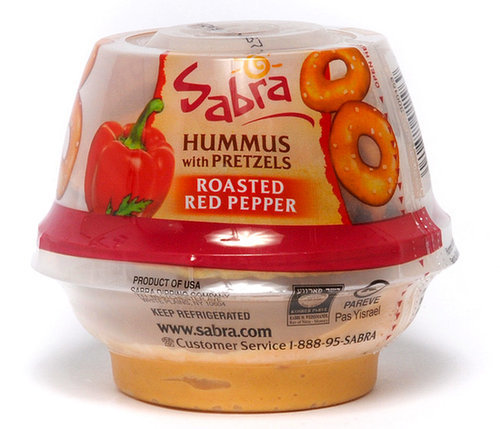 Sabra Hummus and Pretzel Cups