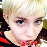 Miley Cyrus Gets a Cat Tattoo on Her Lip | Photos