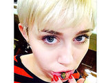 Miley Cyrus Shows Off New Lip Tattoo