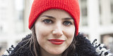 Alex Nuñez, Artist, Matches Her Lipstick To Her Beanie Perfectly