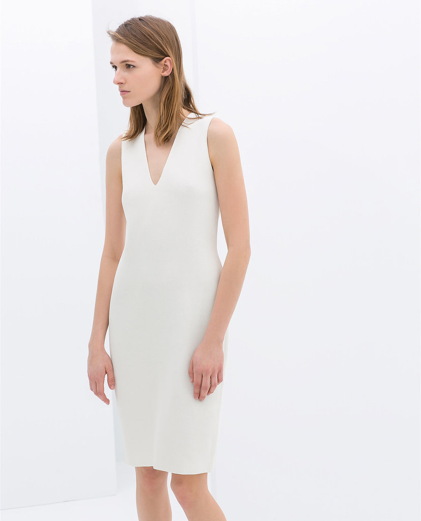 Zara White Sheath Dress